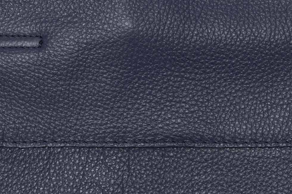 09fc3d2e85a7 Dark Blue Leather Tote Bag | Handmade in Italy | Buy Online
