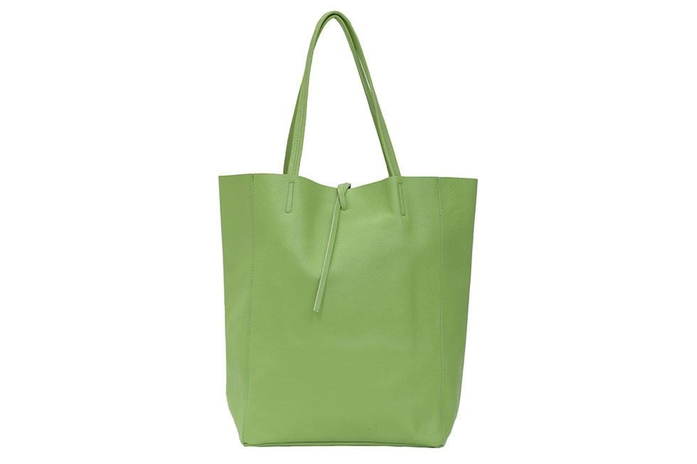 Light Green Leather Tote Bag 7fec0a5f65d9a
