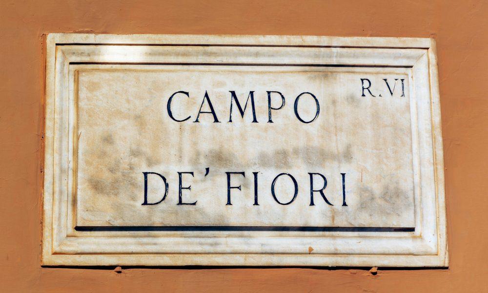 piazza campo dei fiori roma