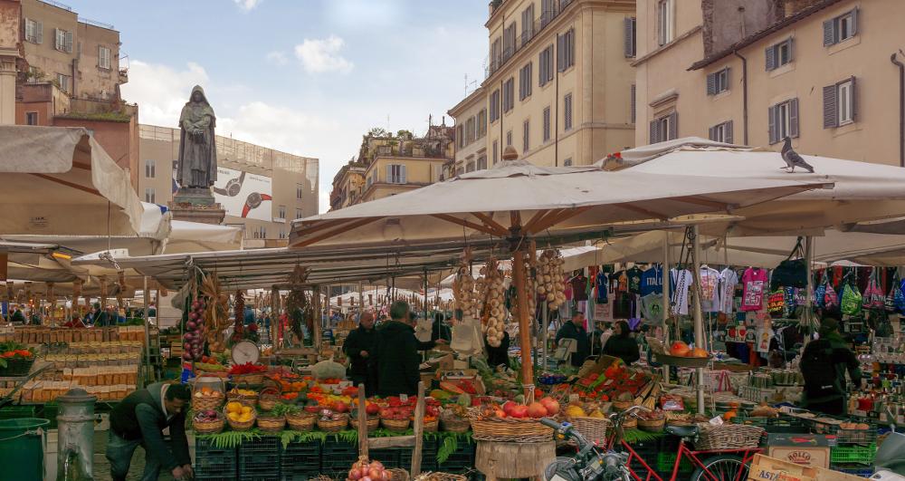 mercato campo dei fiori